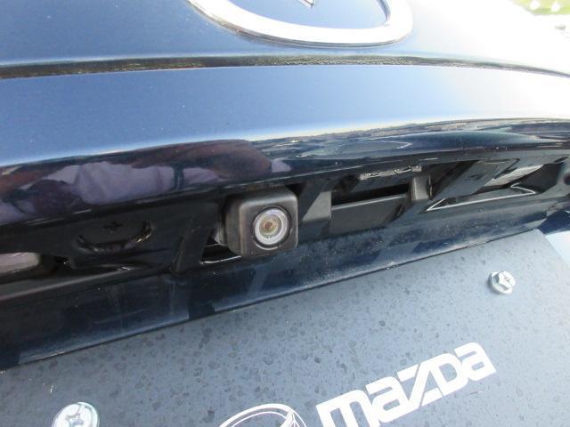 オプションのバックカメラが装着されています。車庫入れ時に最後の詰めをするのに助かる装備です。