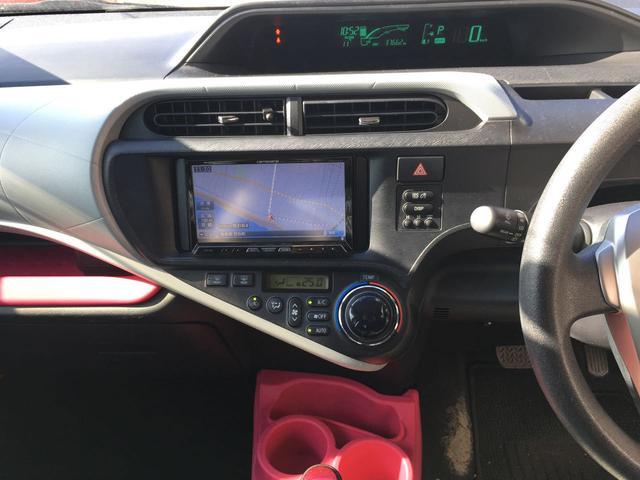 トヨタ アクア S CD DVD ナビ フルセグTV ETC シートヒーター