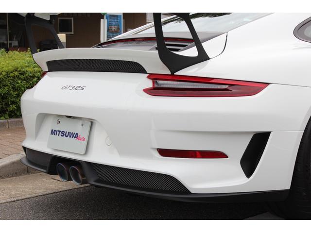 911GT3RS ディーラー車・スポーツクロノPKG・Fリフター・PDLSヘッド・カーボンインテリアPKG・イエローシートベルト&ステアリングトップマーキング・GT3RSロゴ入りスカッフイルミ・スポーツエキゾースト(11枚目)
