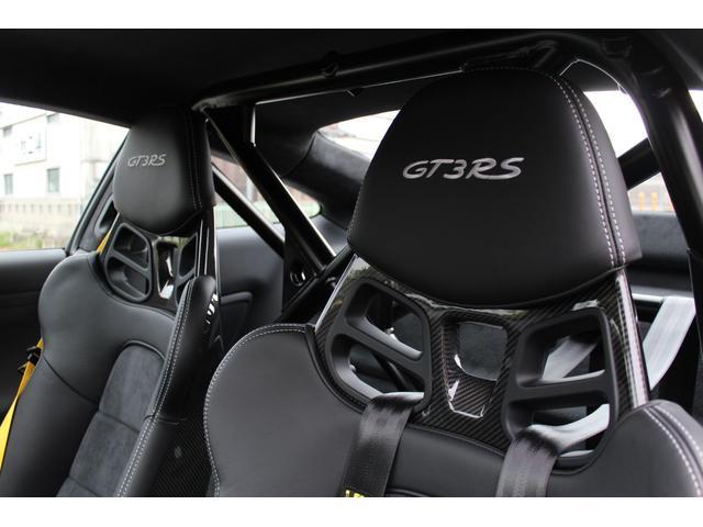 911GT3RS ディーラー車・スポーツクロノPKG・Fリフター・PDLSヘッド・カーボンインテリアPKG・イエローシートベルト&ステアリングトップマーキング・GT3RSロゴ入りスカッフイルミ・スポーツエキゾースト(18枚目)