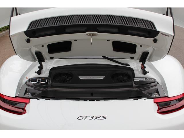 911GT3RS ディーラー車・スポーツクロノPKG・Fリフター・PDLSヘッド・カーボンインテリアPKG・イエローシートベルト&ステアリングトップマーキング・GT3RSロゴ入りスカッフイルミ・スポーツエキゾースト(28枚目)