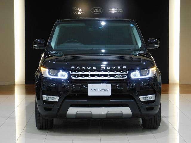 Range Rover Sport 3.0V6スーパーチャージド HSE シートクーラー オフロードパック(2スピードトランスファー・テレインレスポンス2オート) サントリーニブラックM 黒革