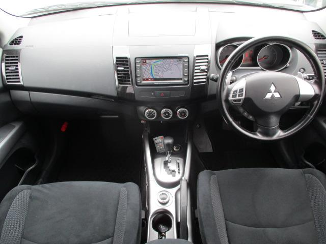 三菱 アウトランダー 24G 4WD 純正HDDナビ ロックフォードスピーカー