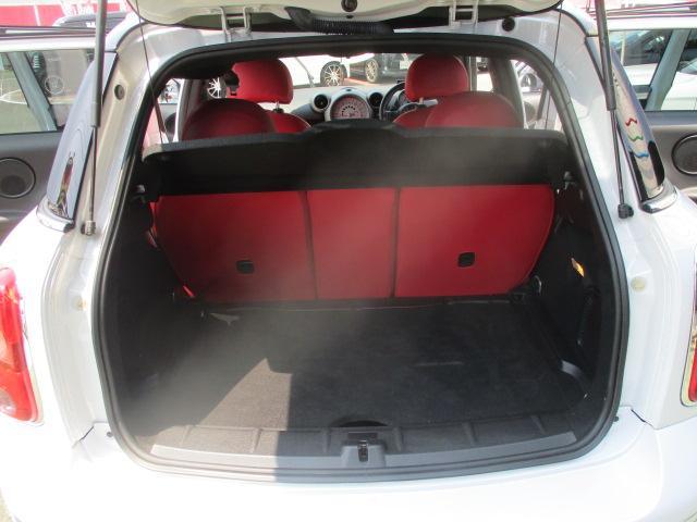 クーパーS クロスオーバー ターボ 白黒ツートン 純正18アルミ リアスポ HID フォグ 赤シートカバー HDDナビTVBモニETC パドルシフト キーレスX2 プッシュスタート ドライブレコーダー レーダー 保証付(58枚目)