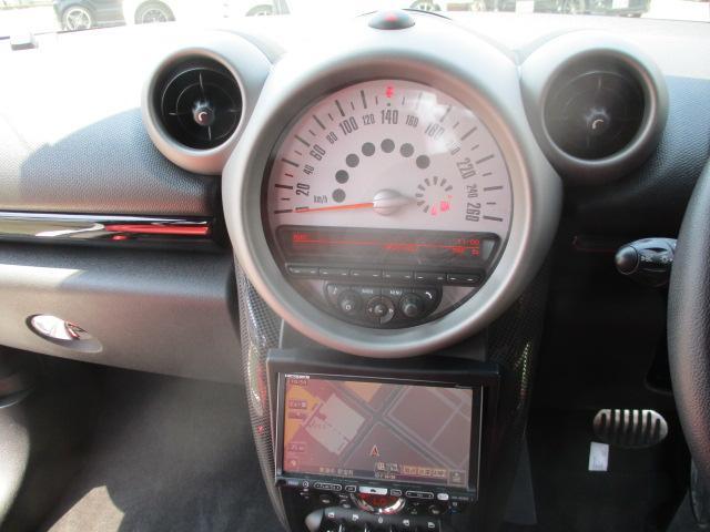 クーパーS クロスオーバー ターボ 白黒ツートン 純正18アルミ リアスポ HID フォグ 赤シートカバー HDDナビTVBモニETC パドルシフト キーレスX2 プッシュスタート ドライブレコーダー レーダー 保証付(67枚目)