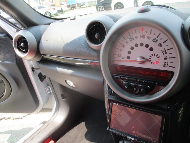 クーパーS クロスオーバー ターボ 白黒ツートン 純正18アルミ リアスポ HID フォグ 赤シートカバー HDDナビTVBモニETC パドルシフト キーレスX2 プッシュスタート ドライブレコーダー レーダー 保証付(74枚目)