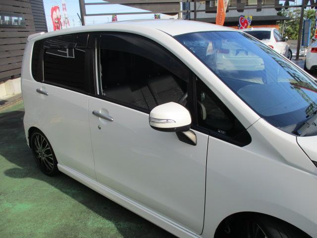 カスタム X SA 1オーナー エアロ リアスポ TEIN車高調 ロクサーニ17アルミ 4灯HID ウインカーミラー HDDナビフルセグBモニETC スマートキープッシュスタート アイドリングストップリアスモーク 保証付(13枚目)