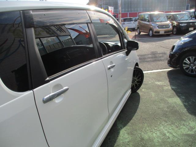 カスタム X SA 1オーナー エアロ リアスポ TEIN車高調 ロクサーニ17アルミ 4灯HID ウインカーミラー HDDナビフルセグBモニETC スマートキープッシュスタート アイドリングストップリアスモーク 保証付(16枚目)