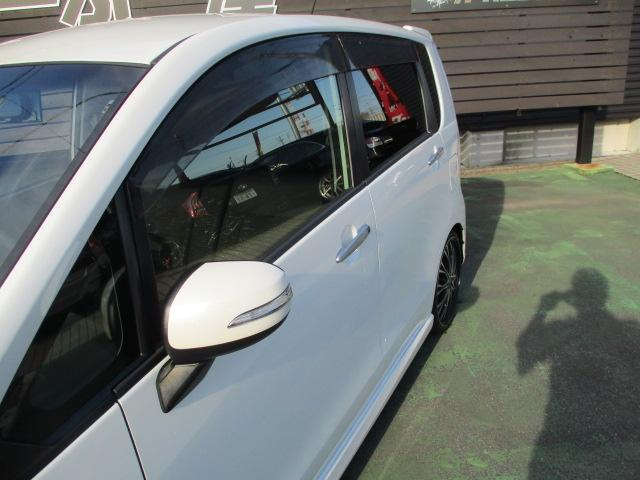 カスタム X SA 1オーナー エアロ リアスポ TEIN車高調 ロクサーニ17アルミ 4灯HID ウインカーミラー HDDナビフルセグBモニETC スマートキープッシュスタート アイドリングストップリアスモーク 保証付(27枚目)