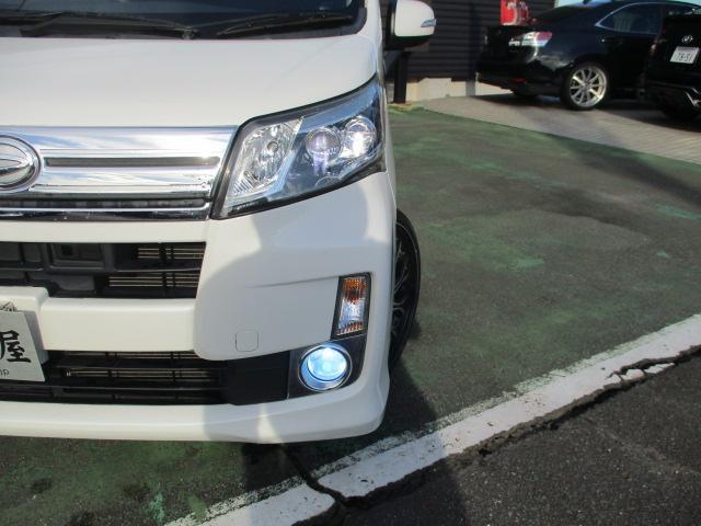 カスタム X SA 1オーナー エアロ リアスポ TEIN車高調 ロクサーニ17アルミ 4灯HID ウインカーミラー HDDナビフルセグBモニETC スマートキープッシュスタート アイドリングストップリアスモーク 保証付(34枚目)