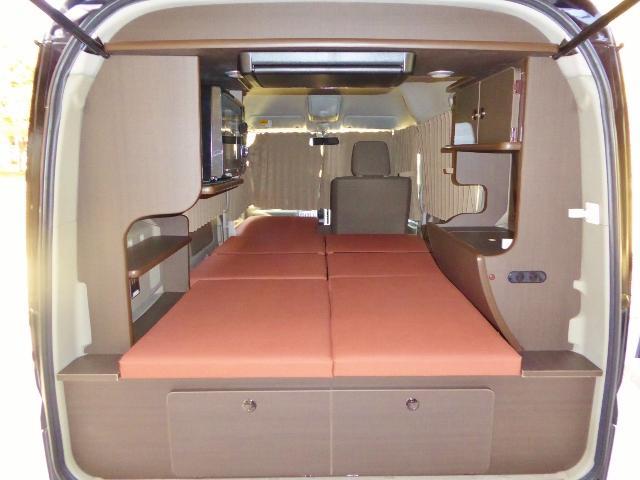 延長ボードをセットすれば助手席側は250cmになります。