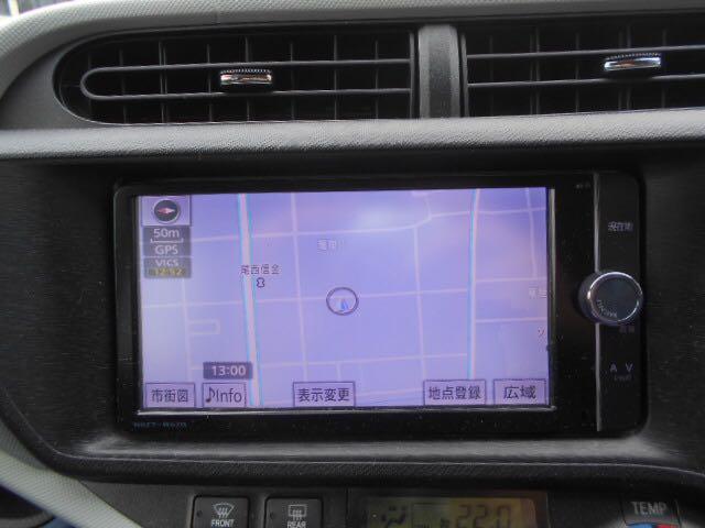 トヨタ アクア S フルセグTV付き純正SDナビ バックカメラ