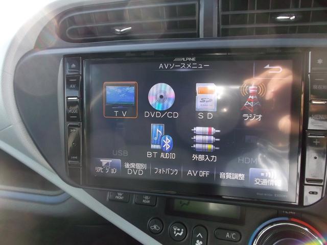 トヨタ アクア S ワンオーナーアルパイン専用ナビBカメラ スマートキー