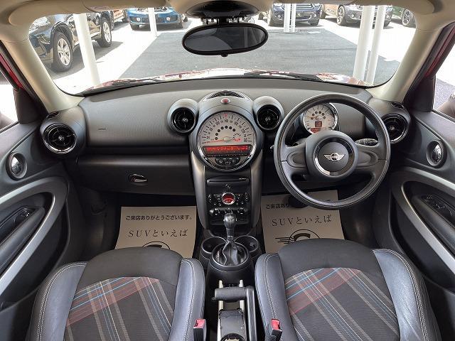 クーパー ペースマン ミントPKG ハーフレザー シートヒーター ブラックインナーHID ETC車載器 純正オプションアルミ キーレス プッシュスタート オートエアコン オートライト 熱線付きフロントガラス 禁煙車(3枚目)