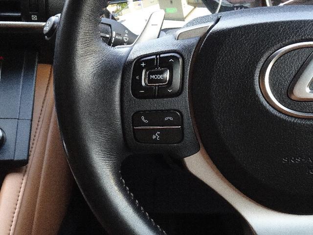 RC300h バージョンL 禁煙車 プリクラッシュセーフティー 車線逸脱警報 ブラインドスポットモニタリングシステム クリアランスソナー クルーズコントロール パドルシフト ステアリングスイッチ フルセグTV バックカメラ(38枚目)
