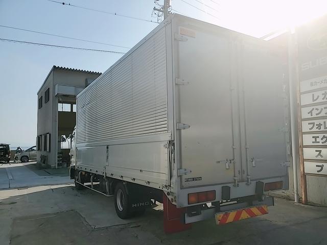 アルミウイング 積載2750Kg ワイドベット付き R観音扉 荷台内寸長さ625横238高さ240 床鉄板貼り エンジンJ05E バックカメラ ラッシング2段(11枚目)