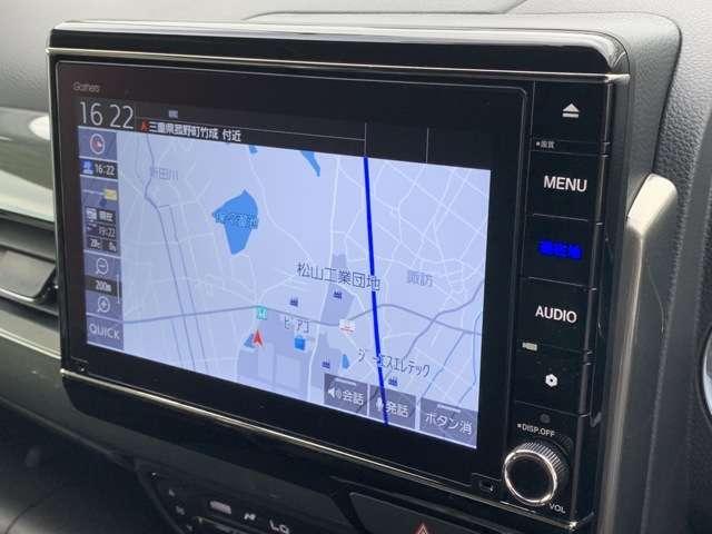 L・ターボホンダセンシング 8インチインターナビ フルセグTV DVD再生可 Bカメラ ドラレコ ETC スマートキー シートヒーター LEDヘッドライト クリアランスソナー アルミホイール レンタUP車(7枚目)