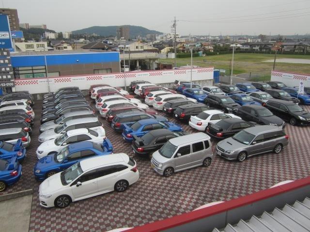 スバル在庫が常時100台以上!専門知識を持ったスタッフが、お客様のニーズにあったお車をご提案させていただきます。