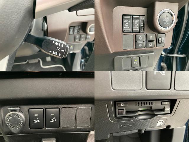 G コージーエディション 両側電動スライドドア 純正SDナビ フルセグTV バックカメラ クルーズコントロール アイドリングストップ シートヒーター ETC スマートキー ウォークスルー ステアリングリモコン 衝突軽減ブレーキ(6枚目)