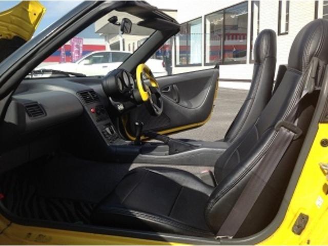ベースグレード 5速MT 前後タワーバー 無限マフラー 車高調 HID 黒革調シートカバー momoステアリング FRPトランク フルエアロ レイズCE28 14インチAW(12枚目)