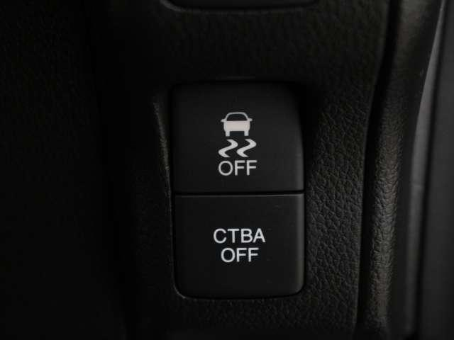 CTBA(低速域衝突軽減ブレーキ)約30km/h以下での前方車両との衝突の回避・軽減。また、前方に障害物がある状況で、アクセルペダルを踏み込んだ場合に、急発進の防止を支援します。