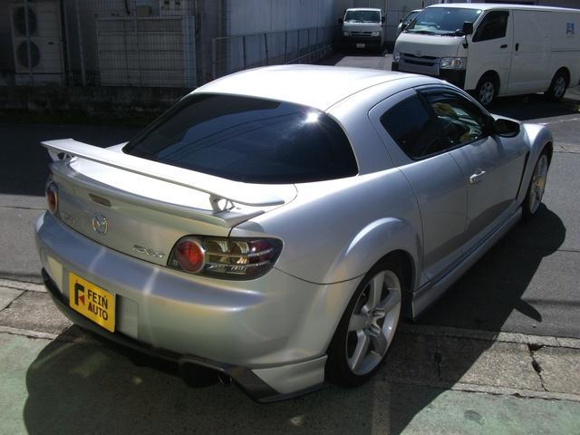 マツダ RX-8 タイプE マツダスピードフルエアロ 黒本革シート 純正ナビ