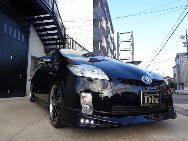 トヨタ プリウス S新品黒革調Sカバー新品マットF/S/Bカメラエアロ19AW