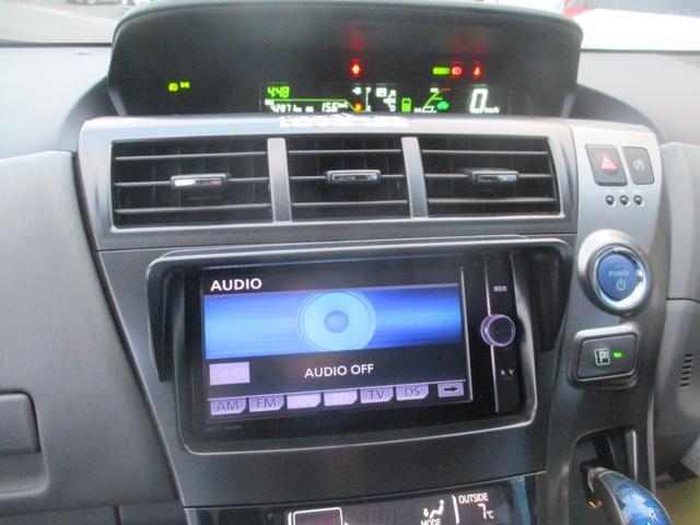 トヨタ プリウスアルファ S チューン ブラック LED付モデリスタ フルセグ後席TV