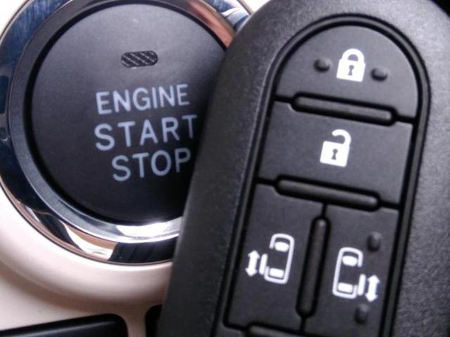 便利なキーレス&プッシュスタートシステム♪この電子キーを携帯しているだけで簡単にエンジンの始動やドアの解錠、施錠が可能です!また万が一の時も安心なエンジンイモビライザーもついてます!