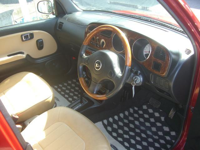 ジーノ 最終モデル ウッド調インテリア ローダウン ミニライト14AW 新品タイヤ タイミングベルト ウォータポンプ交換済(9枚目)