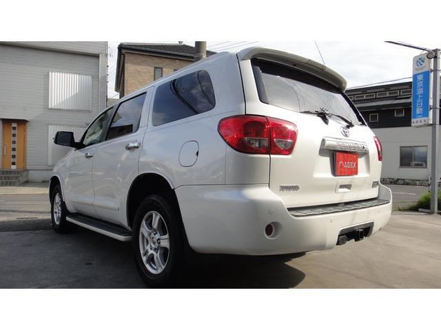 米国トヨタ セコイア プラチナム4WDベージュ革ナビ地デジサンルーフ2ndCシート