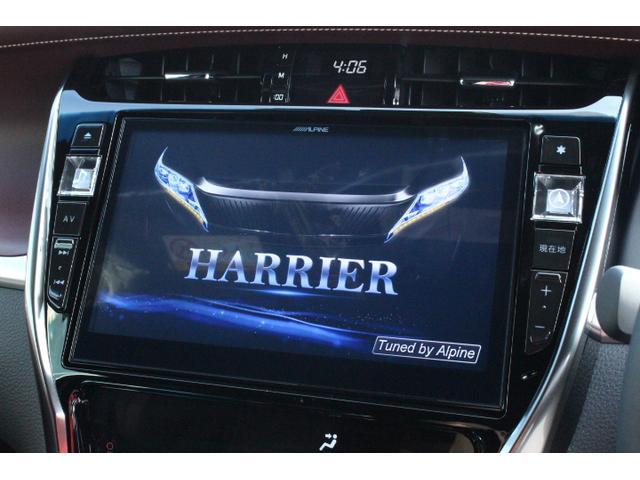 ハリアー専用アルパイン製のBIG-X10型メモリーナビ搭載です。もちろん地デジTVも付いておりますので、大画面の綺麗な画質で、走行中も楽しんで頂けます。