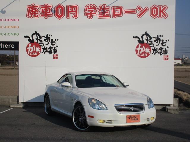 430SCV ヒータ付黒革シート 社外20アルミ 決算セール(6枚目)