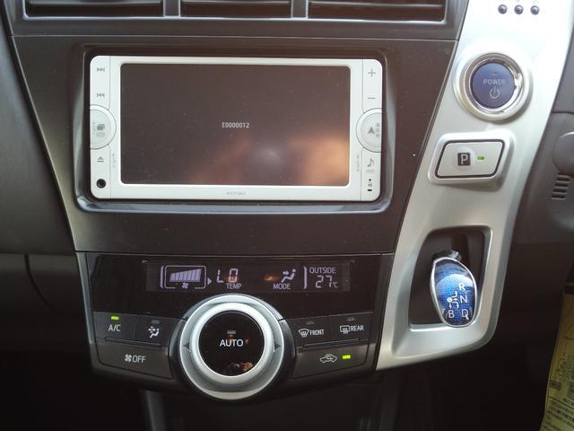 トヨタ プリウスアルファ S 1年間走行無制限保証付 純正SDナビTV ETC