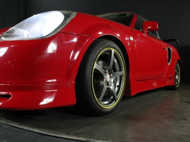 Sエディション 純正F/Rエアロ 外サイドエアロ/ローダウン/16アルミ ロッソモデロマフラー 外LEDライト ETC 純正オーディオ GTウィング(7枚目)