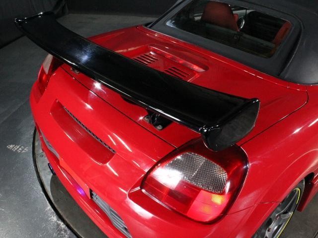 Sエディション 純正F/Rエアロ 外サイドエアロ/ローダウン/16アルミ ロッソモデロマフラー 外LEDライト ETC 純正オーディオ GTウィング(8枚目)