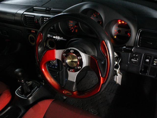 Sエディション 純正F/Rエアロ 外サイドエアロ/ローダウン/16アルミ ロッソモデロマフラー 外LEDライト ETC 純正オーディオ GTウィング(13枚目)