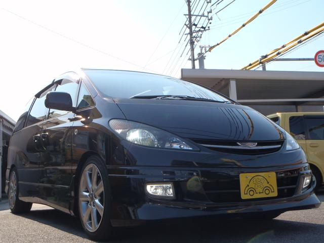 トヨタ エスティマT アエラス 4WD Wサンルーフ 車高調 フルセグナビ ヒッチ