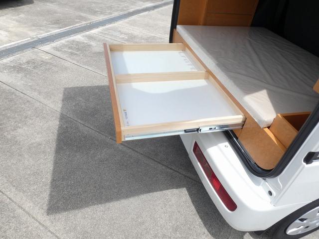 ダイハツクラフト製 楽旅 サブバッテリー 走行充電 インバーター350W カーテン ベッドキット ナビ バックカメラ ETC 切り替え4WD パワーミラー(7枚目)
