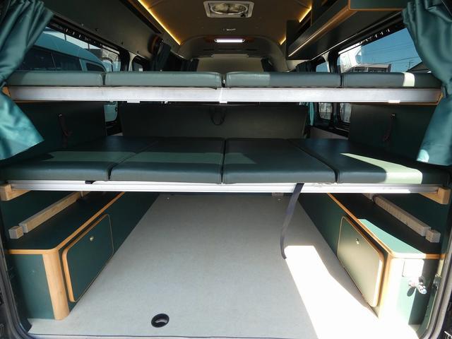 オリジナルキャンピングカー 8ナンバーキャンピング登録 8名乗車5名就寝 サブバッテリー シンク 給排水タンク 外部電源 間接照明 インバーターリアTV 地デジチューナー(8枚目)