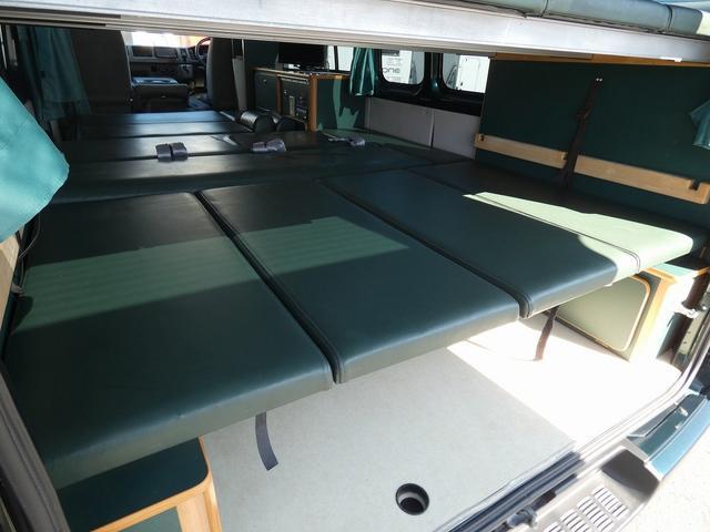 オリジナルキャンピングカー 8ナンバーキャンピング登録 8名乗車5名就寝 サブバッテリー シンク 給排水タンク 外部電源 間接照明 インバーターリアTV 地デジチューナー(11枚目)
