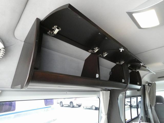 トイファクトリー製バーデン 8ナンバーキャンピングカー サブバッテリー 走行充電 外部充電 インバーター シンク 冷蔵庫 常設ベッド オプション延長ベッド 出窓仕様 断熱(23枚目)