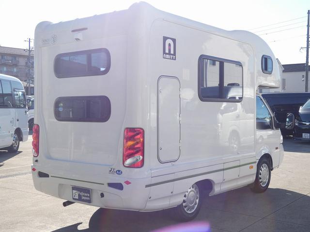 AtoZ アミティ 8ナンバーキャンピングカー サブバッテリー 走行充電 外部電源 リアTV シンク 冷蔵庫 常設2段ベッド マックスファン バックモニター 走行用リアクーラー(37枚目)