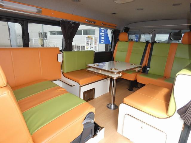 かーいんてりあ高橋リラックスワゴン 3ナンバーキャンピングカー仕様 車中泊 サブバッテリー 走行充電 外部充電 インバーター1500W FFヒーター リアTV(4枚目)