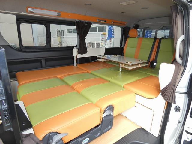 かーいんてりあ高橋リラックスワゴン 3ナンバーキャンピングカー仕様 車中泊 サブバッテリー 走行充電 外部充電 インバーター1500W FFヒーター リアTV(8枚目)