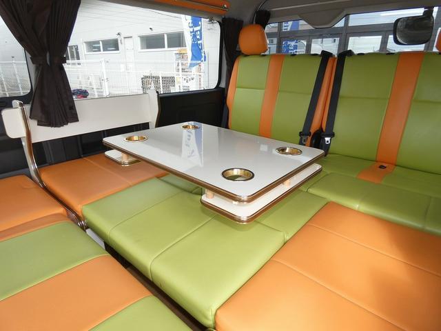 かーいんてりあ高橋リラックスワゴン 3ナンバーキャンピングカー仕様 車中泊 サブバッテリー 走行充電 外部充電 インバーター1500W FFヒーター リアTV(9枚目)