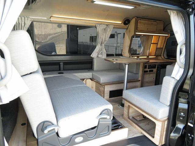 リノ匠 FOCS DS-Fスタイル 8ナンバーキャンピングカー リノベーション 新規架装 7名乗車 ファスプシート サブバッテリー 走行充電 外部充電 LED照明 冷蔵庫 床下収納(2枚目)