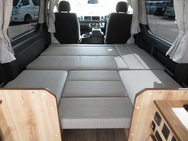 リノ匠 FOCS DS-Fスタイル 8ナンバーキャンピングカー リノベーション 新規架装 7名乗車 ファスプシート サブバッテリー 走行充電 外部充電 LED照明 冷蔵庫 床下収納(23枚目)