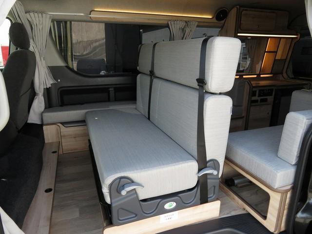 リノ匠 FOCS DS-Fスタイル 8ナンバーキャンピングカー リノベーション 新規架装 7名乗車 ファスプシート サブバッテリー 走行充電 外部充電 LED照明 冷蔵庫 床下収納(26枚目)