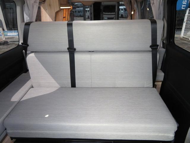 リノ匠 FOCS DS-Fスタイル 8ナンバーキャンピングカー リノベーション 新規架装 7名乗車 ファスプシート サブバッテリー 走行充電 外部充電 LED照明 冷蔵庫 床下収納(27枚目)
